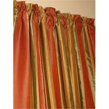 Green Striped Curtain Panels by Diana Green And Gold Stripe Dupioni Silk Curtain Panel Silk