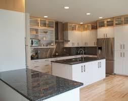 White Cabinets Dark Countertop What Color Backsplash by White Cabinets With Dark Counters The Top Home Design