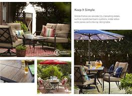 Garden Treasures Patio Furniture Manufacturer by Shop The Vinehaven Patio Collection On Lowes Com