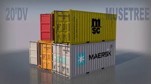 100 Shipping Container Model 20ft High Quality 3D Model By MuseTree