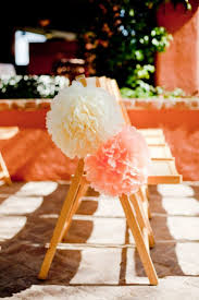 Ceremony Aisle Decor Pom Poms