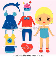 Cute Girl Paper Doll For Kids Dress Up The Game