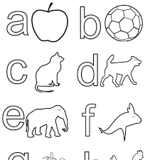 Hearing From Us Eng Alpha Small Coloring Book My Sketch Roo New English Alphabet Letters Sheet
