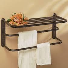 Bathroom Towel Bar Ideas by Bathroom Shelf With Towel Bar Home Decorations