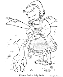 Lamb Page To Color Colouring In Easter