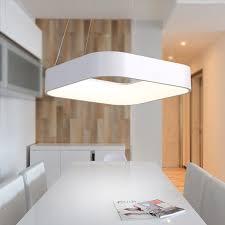 moderne einfache quadratische led anhänger licht esszimmer küche insel foyer droplight aluminium acryl wohnkultur beleuchtung leuchte