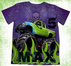 100 Monster Truck T Shirts Personalized Shirt Birthday