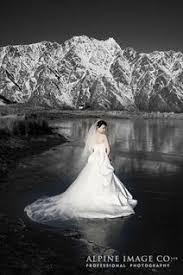 Bride On Frozen Lake In Queenstown New Zealand