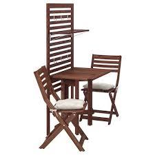 äpplarö tisch 2 klappstühle außen braun las ikea