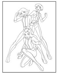 Totally Spies Coloring Pages Color Bros