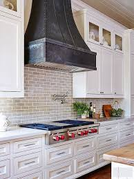 A Locally Crafted Zinc Hood Gives This Kitchen Wall Rustic And Industrial Element The