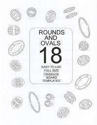 Items Similar To Round And Oval Cribbage Board Templates For Woodworkers 18 Different Patterns In All On Etsy