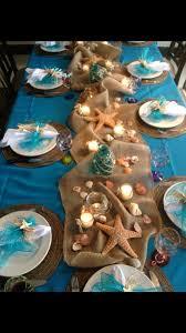 Beach themed tablescape Beach decor ideas Pinterest