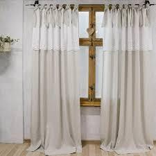 shabby chic vorhänge landhaus gardinen natur leinen retro gardinen gardine mit stickerei