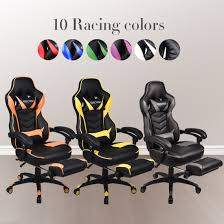 ELECWISH Office Gaming Chair Racing Recliner Bucket Seat Computer Desk  Footrest Xtrempro 22034 Kappa Gaming Chair Pu Leather Vinyl Black Blue Sale Tagged Bts Techni Sport X Rocker Playstation Gold 21 Audio Costway Ergonomic High Back Racing Office Wlumbar Support Footrest Elecwish Recliner Bucket Seat Computer Desk Review Cougar Armor Gumpinth Killabee 8272 Boys Game Room Makeover Tv For Gaming And Chair Wilshire Respawn110 Style Recling With Or Rsp110 Respawn Products Cheapest Price Nubwo Ch005