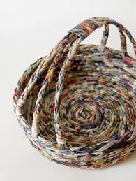 Recycled Paper Basket By BluReco Inspiration