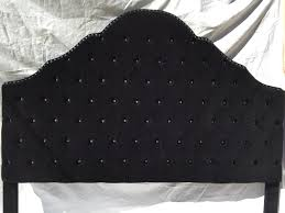Diamond Tufted Headboard With Crystal Buttons by Black Velvet Extra Tall King Size Tufted Headboard With A Row