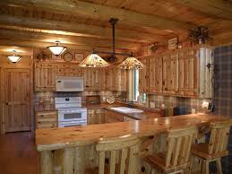 Log Cabin Kitchen Cabinet Ideas by Great Ideas Of Primitive Kitchen Cabinets With Hanging Lamps 6729