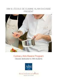 l ecole de cuisine de introduction to culinary arts br offered by aim