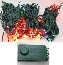 Set Of 140 Multi Miniature Christmas Lights With 8 Function Controller