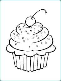 Cupcake For Coloring Page Pages Sheets Color Cute Colouring