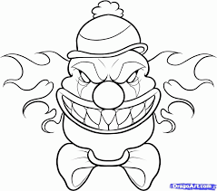 Scary Clown Printable Coloring Pages