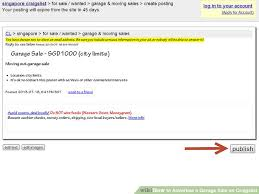 How to Advertise a Garage Sale on Craigslist 13 Steps