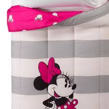 Minnie Mouse Twin Bedding by Disney Minnie Mouse Gray U0026 White Comforter Twin Full Target