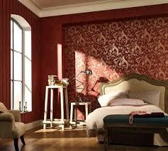 romantische rote tapete im schlafzimmer rotes zimmer