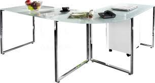 bureau d angle verre bureau angle design bureau duangle design en verre blanc with
