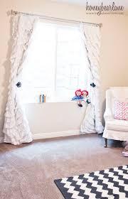 how to make ruffled curtains honeybear lane