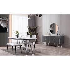 marmor esstisch mit marmoroptik im set kaufen bei optimawohnen