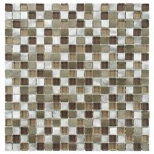Home Depot Merola Penny Tile by Merola Tile Fusion Mini Champagne 12 In X 12 In X 6 Mm Brushed