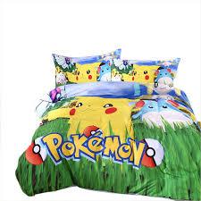 In Stock Top Styles Pikachu poke mon Bedding sheet Children