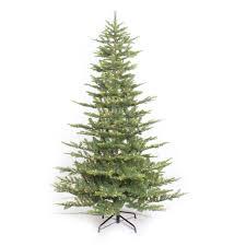 Pre Lit Slim Christmas Tree Asda by Puleo International 7 5 U0027 Pre Lit Aspen Green Fir Tree Walmart Com