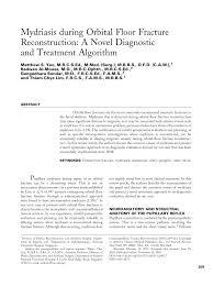 Orbital Floor Fracture Treatment by Mydriasis During Orbital Floor Fracture Reconstruction A Novel