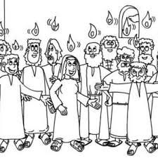 White Sunday In Pentecost Coloring Page