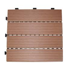 deck n go composite wood decking tiles brown