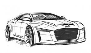 Audi Quattro Concept Super Car Coloring Page