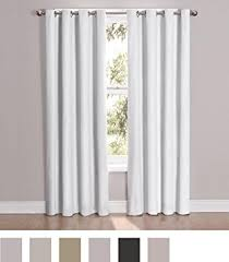 Eclipse Thermalayer Curtains Grommet by Amazon Com Eclipse 12423052063whi Cassidy 52 Inch By 63 Inch