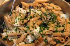 recettes faciles rapides pâtes aux aubergines et gorgonzola