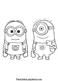Dave And Stuart The Minions Coloring Page