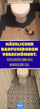 hässlicher badfußboden verschönert bad toilette