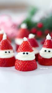Christmas Tree Meringues Sainsburys by 3 Ingredient Strawberry Santas For Christmas Adorable Christmas