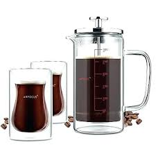 Double Wall French Press Coffee Tea Maker With 2 Espresso Cups Stainless Bodum Columbia Replacement Parts