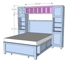 16 diy headboard projects diy storage bed ana white and diy storage