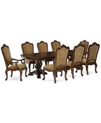 lakewood 9 piece dining room furniture set double pedestal