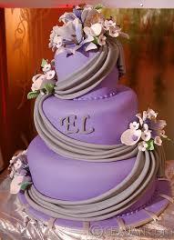 purple wedding cake by ceajan 1