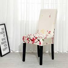 esszimmer stuhl abdeckung spandex elastische pastoralen druck moderne hussen möbel abdeckung küche hochzeit housse de chaise 1 2 4 6pcs