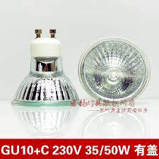 wholesale selling gu10 c with cover 230v 35w 50w halogen l